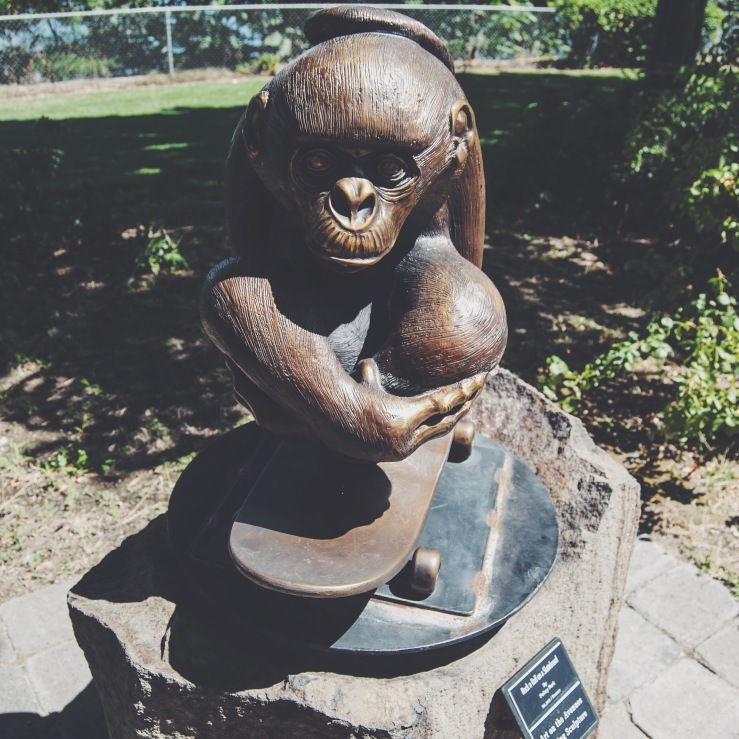 Feel like a bronze statue of a monkey riding a skateboard is missing from your life? For the low, low price of $6,000, you can fill that void...