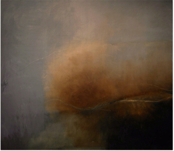 Retreating Light, an oil on canvas by Jane Cook; I think I saw this at the New Concept Gallery (I have to get better at taking clear notes!); image via Jane Cook's website.